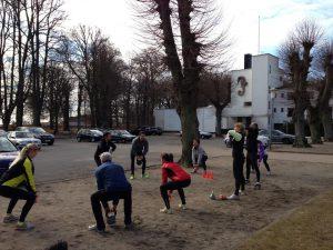 Outdoor fitnes med Christin