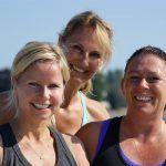 Fra venstre - Kristine, træner Christin og Lotte