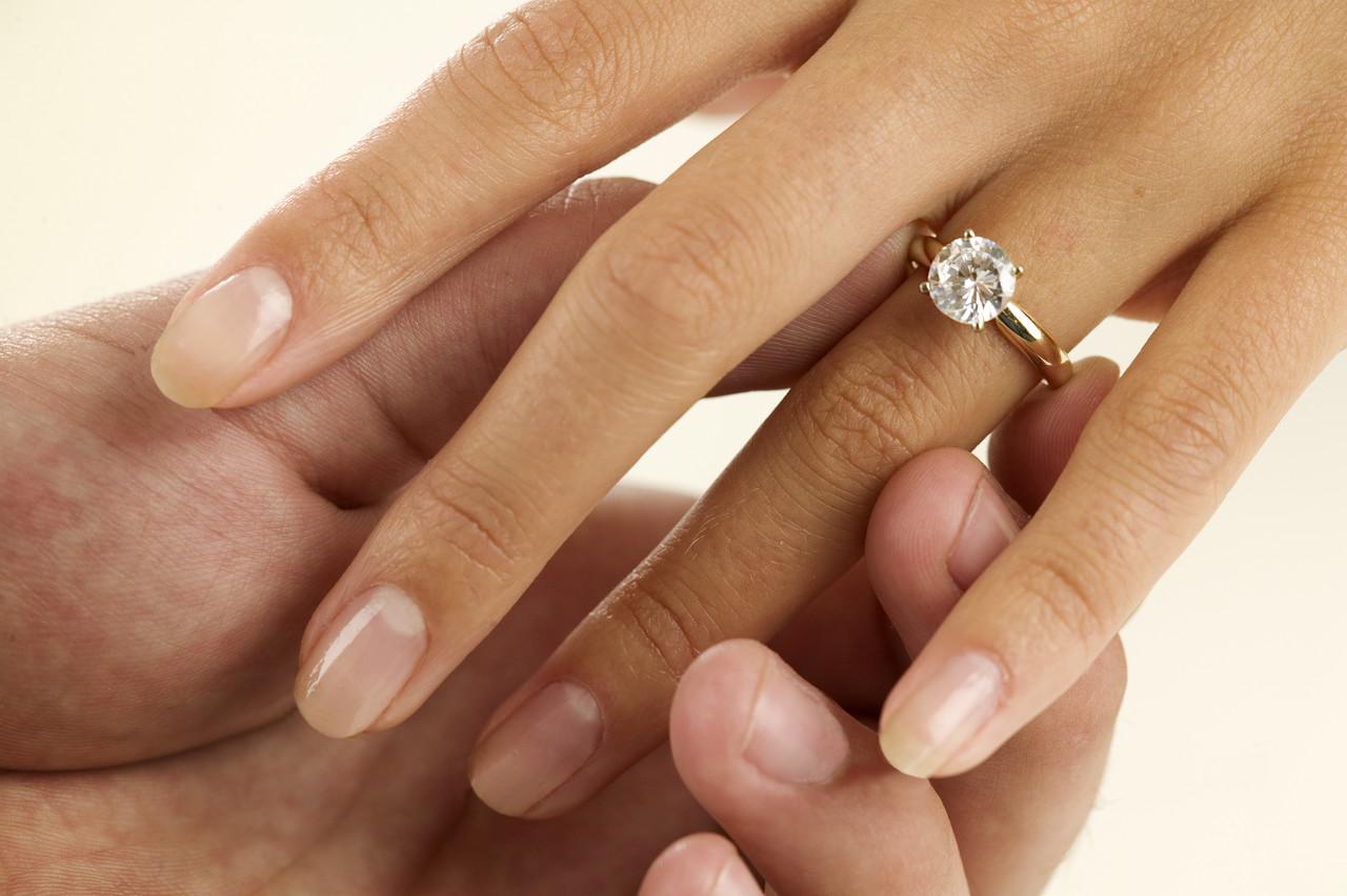 vielsesring på hvilken finger