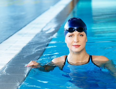 http://www.dreamstime.com/royalty-free-stock-photography-woman-swimming-suit-near-pool-young-wearing-blue-cap-image38562407